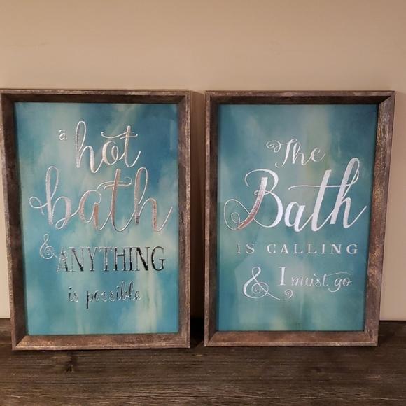Framed Wall Word Art for Spa Bath